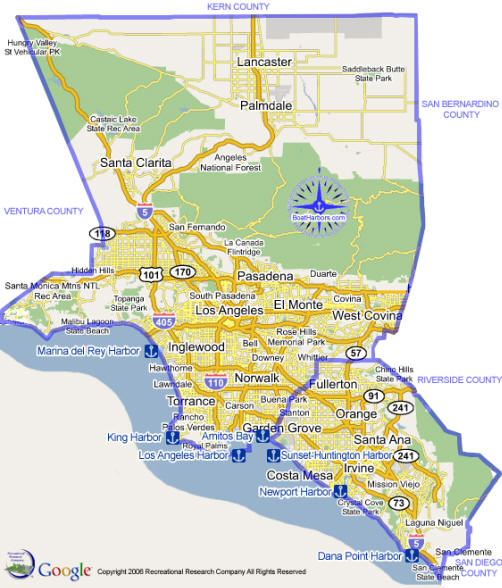 Los angeles county dating spots map
